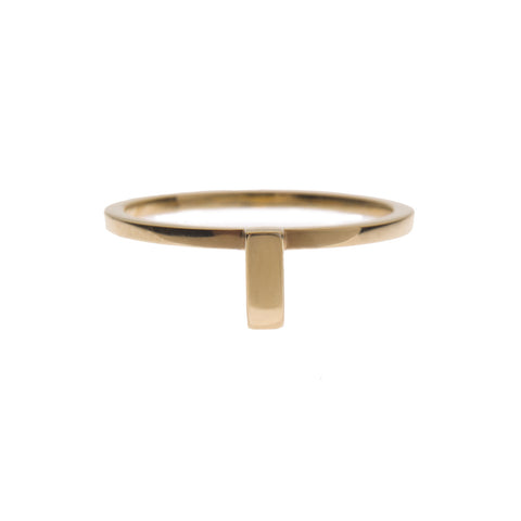 Ingot Ring in Gold
