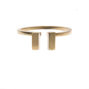 Double Ingot Ring in Gold