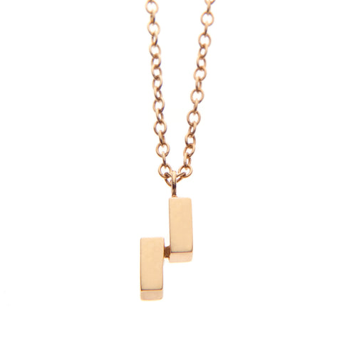 Ingot Necklace in Gold