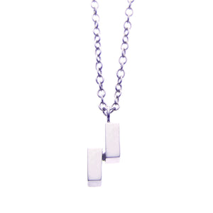 Ingot Necklace in Silver