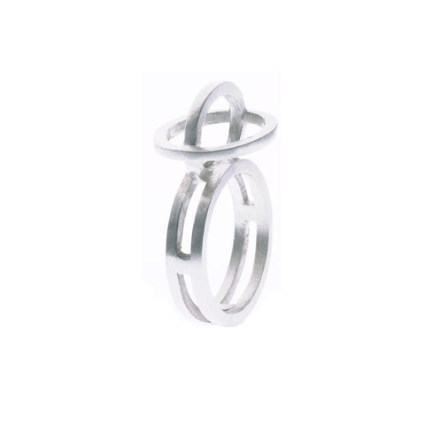 Plain ellipse ring silver - Nancy rose jewellery