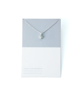 December birthstone silver necklace
