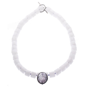 Harlequin Quartz ellipse necklace - Nancy rose jewellery