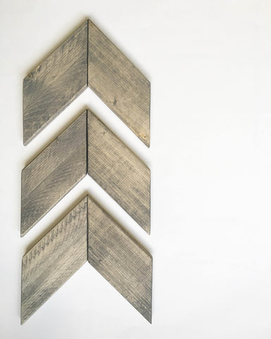Rustic Wood Chevron Arrow Set