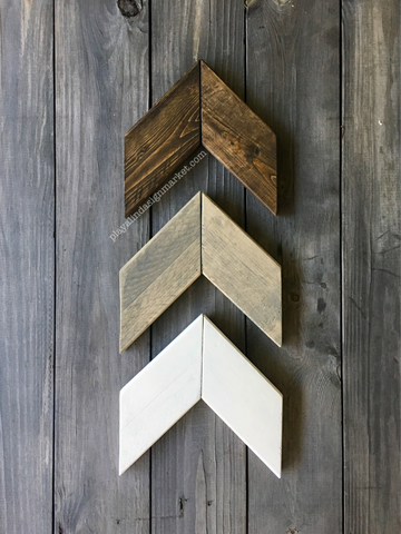 Wood Chevron Arrows in Neutral Tones