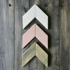 Wood Chevron Arrow Set in Dusty Rose