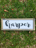 Personalized Painted Kids / Baby Name Sign with Frame