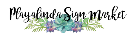 Playalinda Sign Market