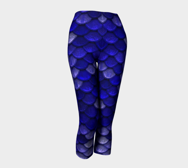 Bahasha blue mermaid scales capris front preview