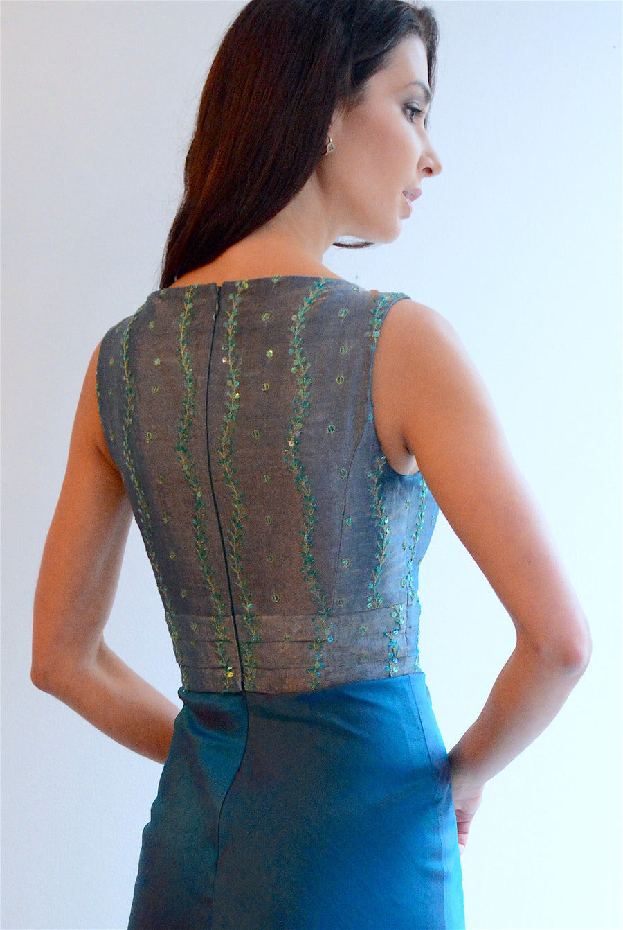 Classic Emerald Evening Gown