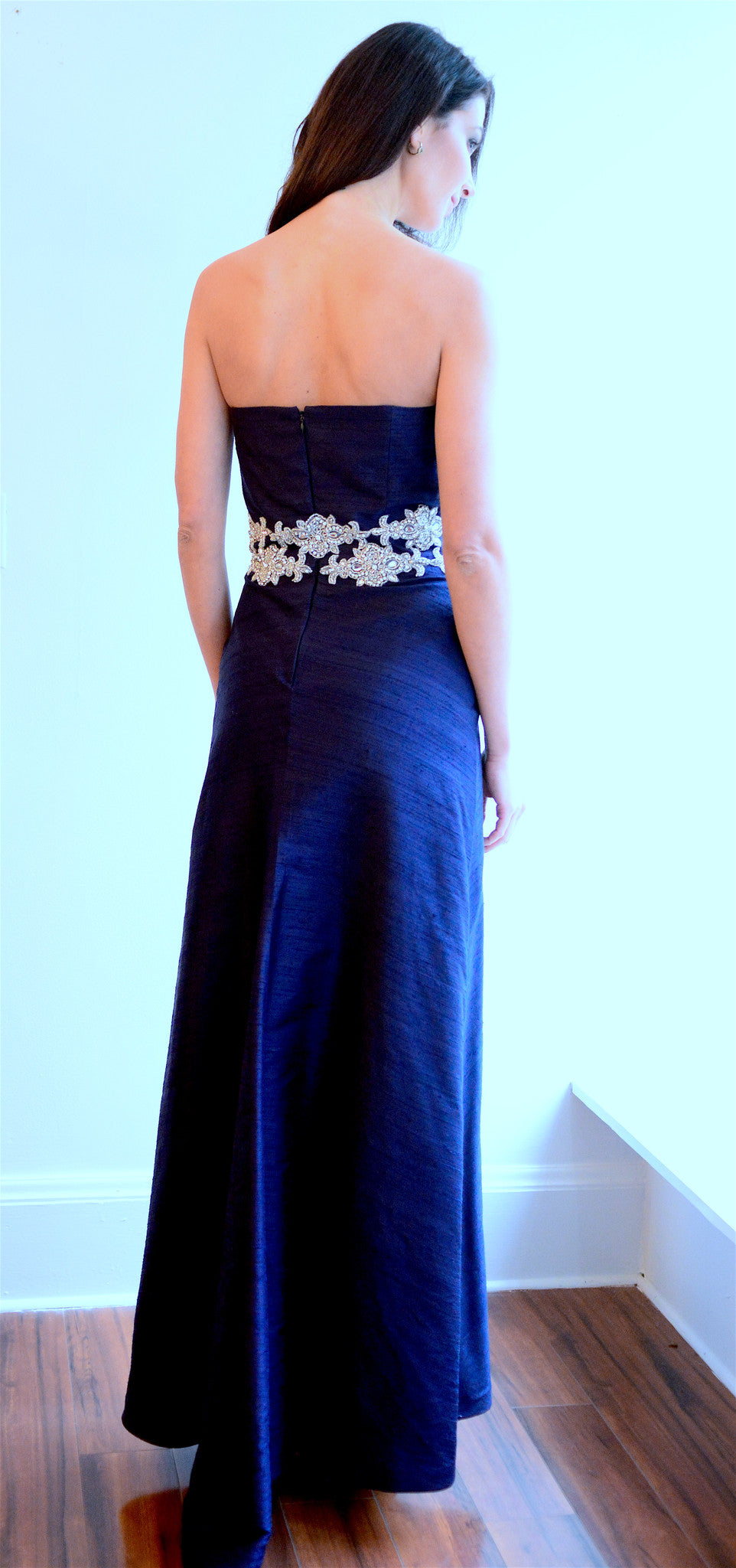 Royal Blue Gown with Crystal Swarovski Sash – Anna Nieman Boutique
