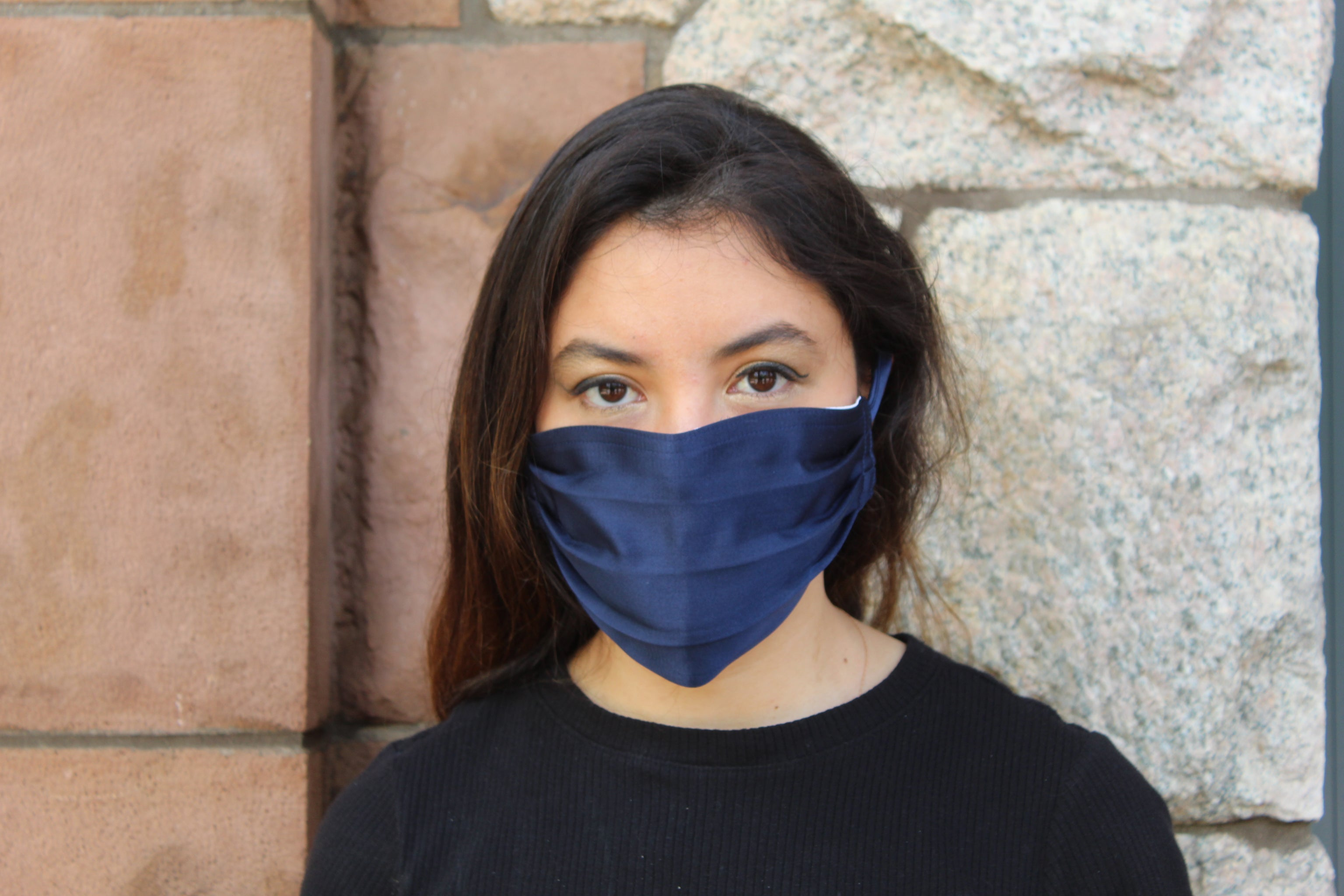 Navy Silk Mask