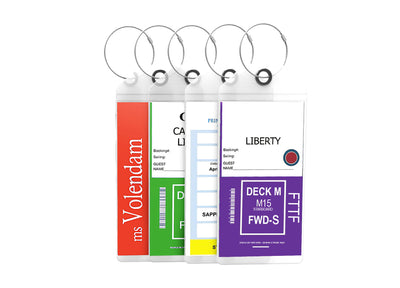 Cruise Tags - Large Luggage eTag Holders Zip Seal & Steel Loops