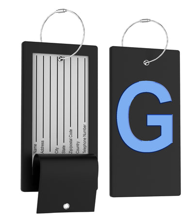 Personalized Initial Letter Luggage Tags
