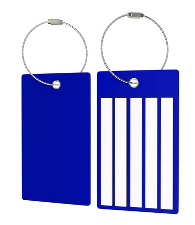 Luggage  PVC Bag Tags Bright Colors - 2 Pack - (Choose Your Color)