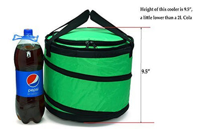 Cruise 30 Can Collapsible Soft cooler bag with Leakproof Liner, Fits in Suitcase, Green