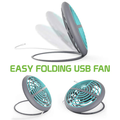 Small USB Desk Fan Mini Personal Portable Cooling