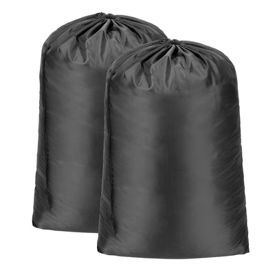 2 Pack Laundry Bags, Extra Large Nylon Travel Laundry Bag with Drawstring Closure and Rip Resistant Material