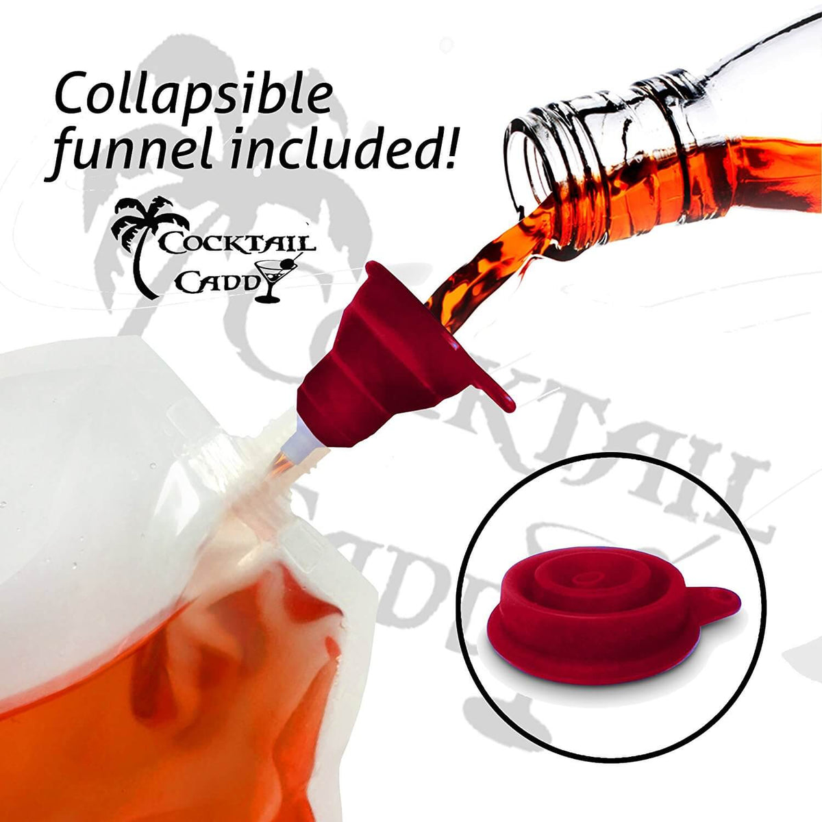 Smuggler's Cruise Kit For Liquor - Concealable and Reusable Heavy Duty Flasks