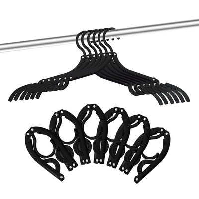 12 PCS Travel Hangers - Portable Folding Clothes Hangers