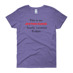 Highwind Women's Dysfunctional Family Fun Parody T-shirt
