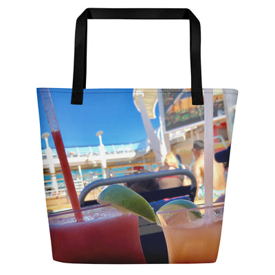 Beach Tote Bag | Cruise Drinks theme