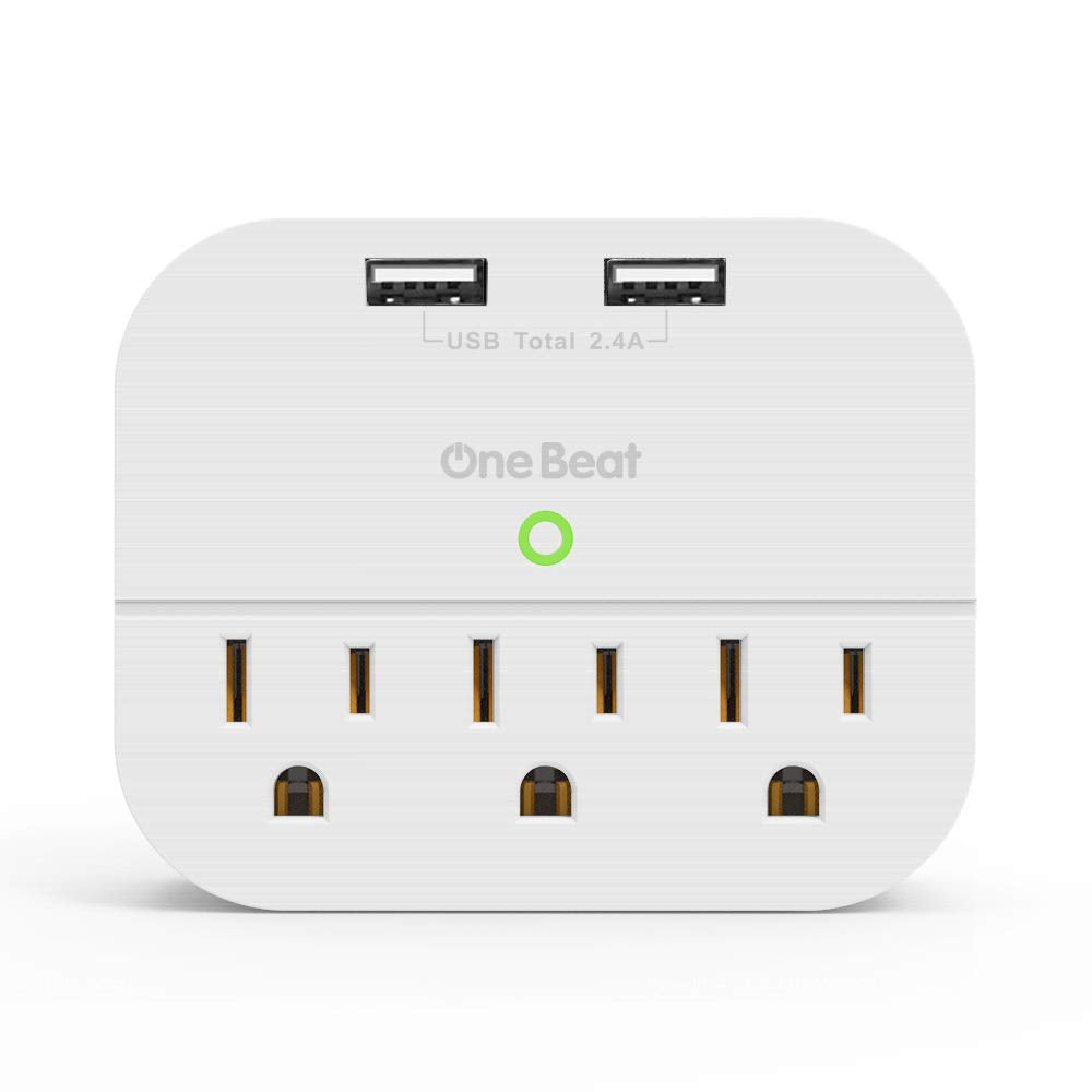 USB Outlet Plug - Dual USB Ports - Power Strip USB Charger (3 1A Total) -  Cruise Compliant - Compatible with GFCI, ETL Listed,
