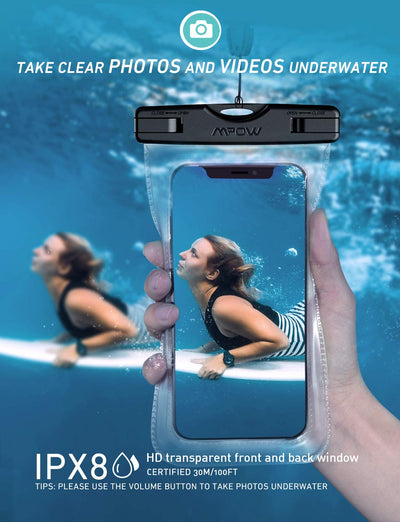 Universal Waterproof Case, IPX8 Waterproof Phone Pouch Dry Bag