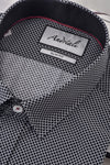 Black Diamond Details Andriali Slimfit Dress Shirt.  Made of the finest 100% cotton featuring the Andriali emblem.  This shirt is for the gentleman who is ready to impress at work as well as a formal or casual occasion.