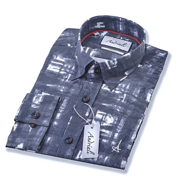 Paris Night Slim Fit Dress Shirt.  Made of the finest 100% cotton.  Recommended for guys who enjoy the art of dressing.