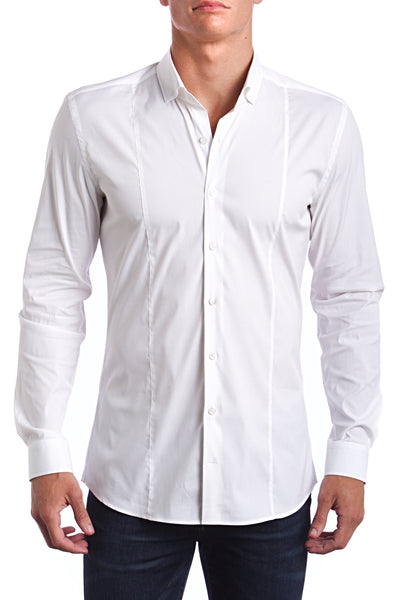 Miami White Super Slim Fit Dress Shirt