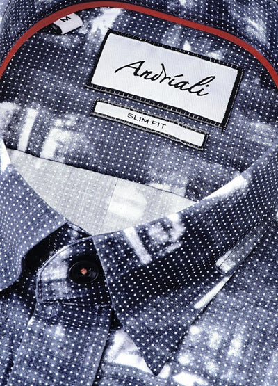 Paris Night  Andriali Slimfit Dress Shirt.  Made of the finest 100% cotton.  Recommended for guys who enjoy the art of dressing.