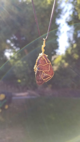 Tiger's Eye - Third eye wire wrapped