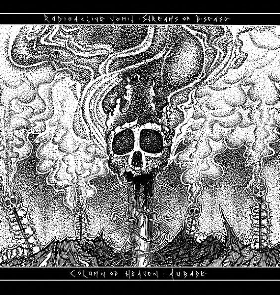 Radioactive Vomit / Column Of Heaven - Split 7""