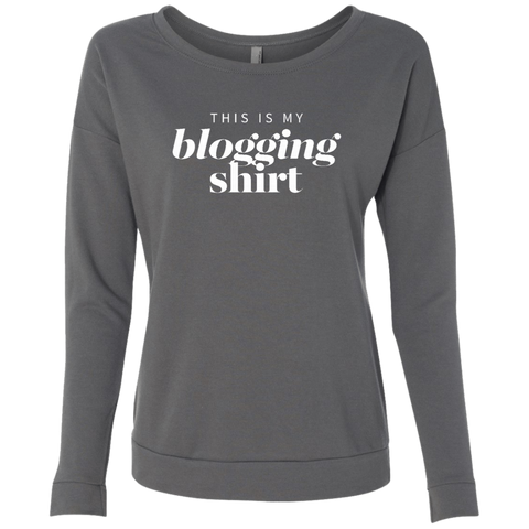 Blogging Shirt Dark Graphic Sweatshirt