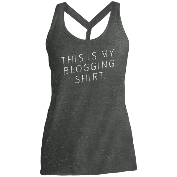 Blogging Shirt Diagonal Dark Twist Back Tank