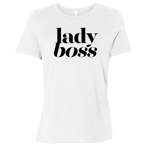 Lady Boss White Graphic Tee