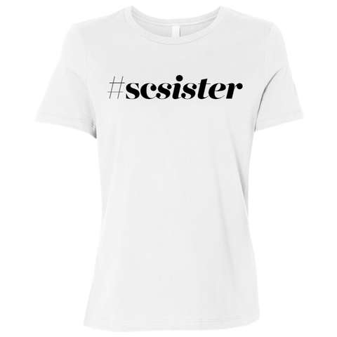 #SCSister White Graphic Tee