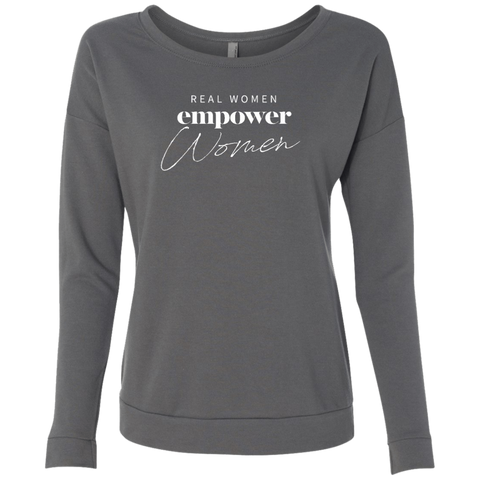 Empowerment Script Dark Graphic Sweatshirt