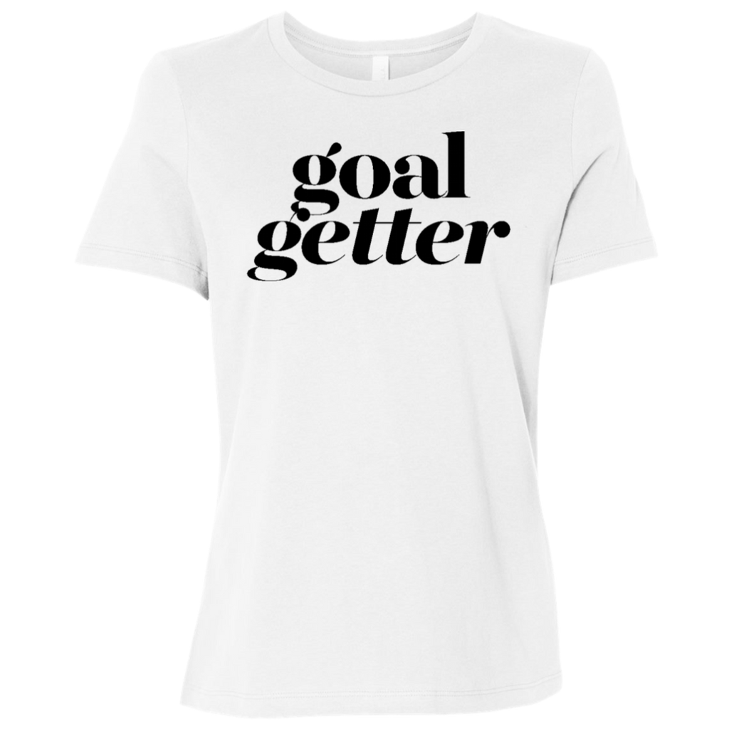 Goal Getter White Graphic Tee