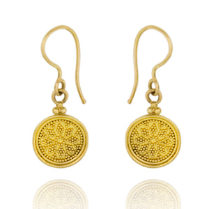 Gold Granulated Earring