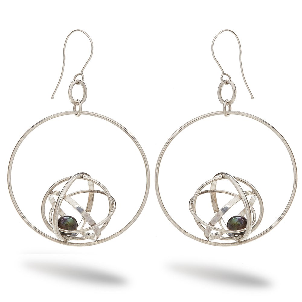 Large Sphere Hoop Earring