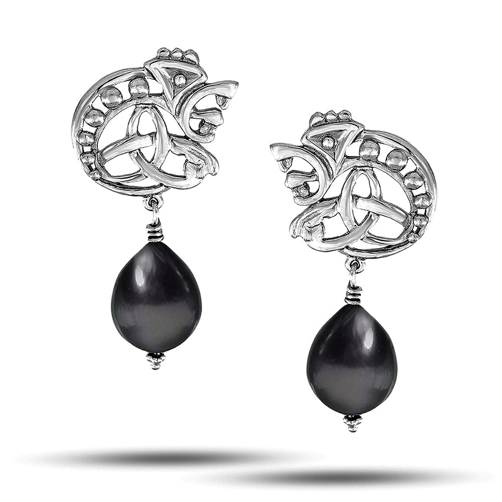 Load image into Gallery viewer, Silver Boris Earring