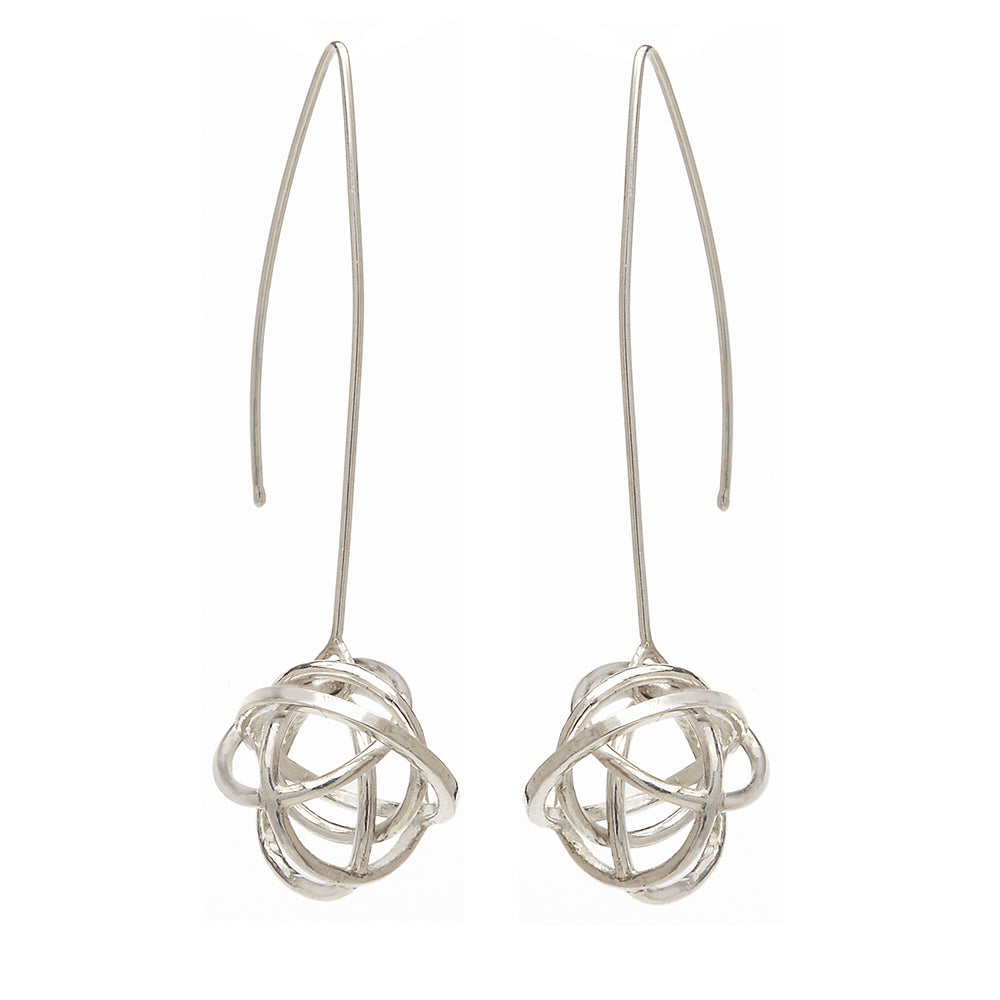 Long Drop Sphere Earring