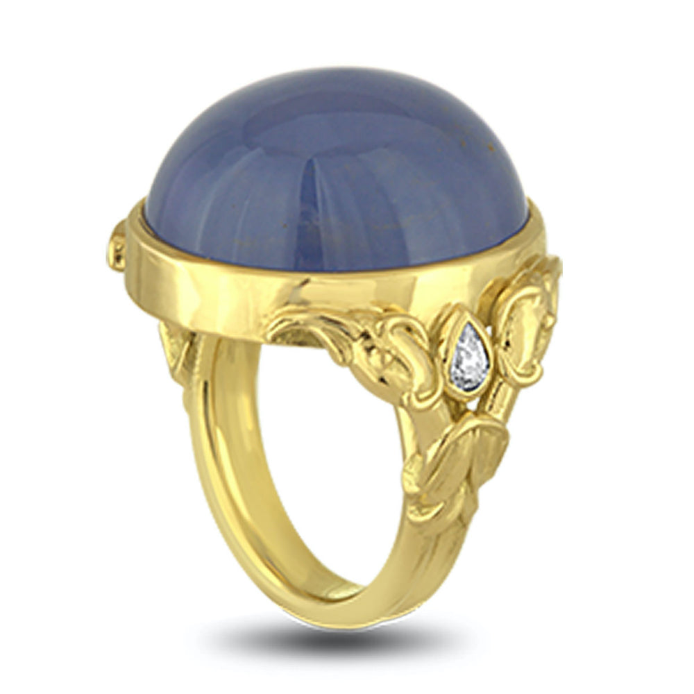 Blue Flamingo Ring