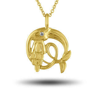 Load image into Gallery viewer, Golden Crane Pendant
