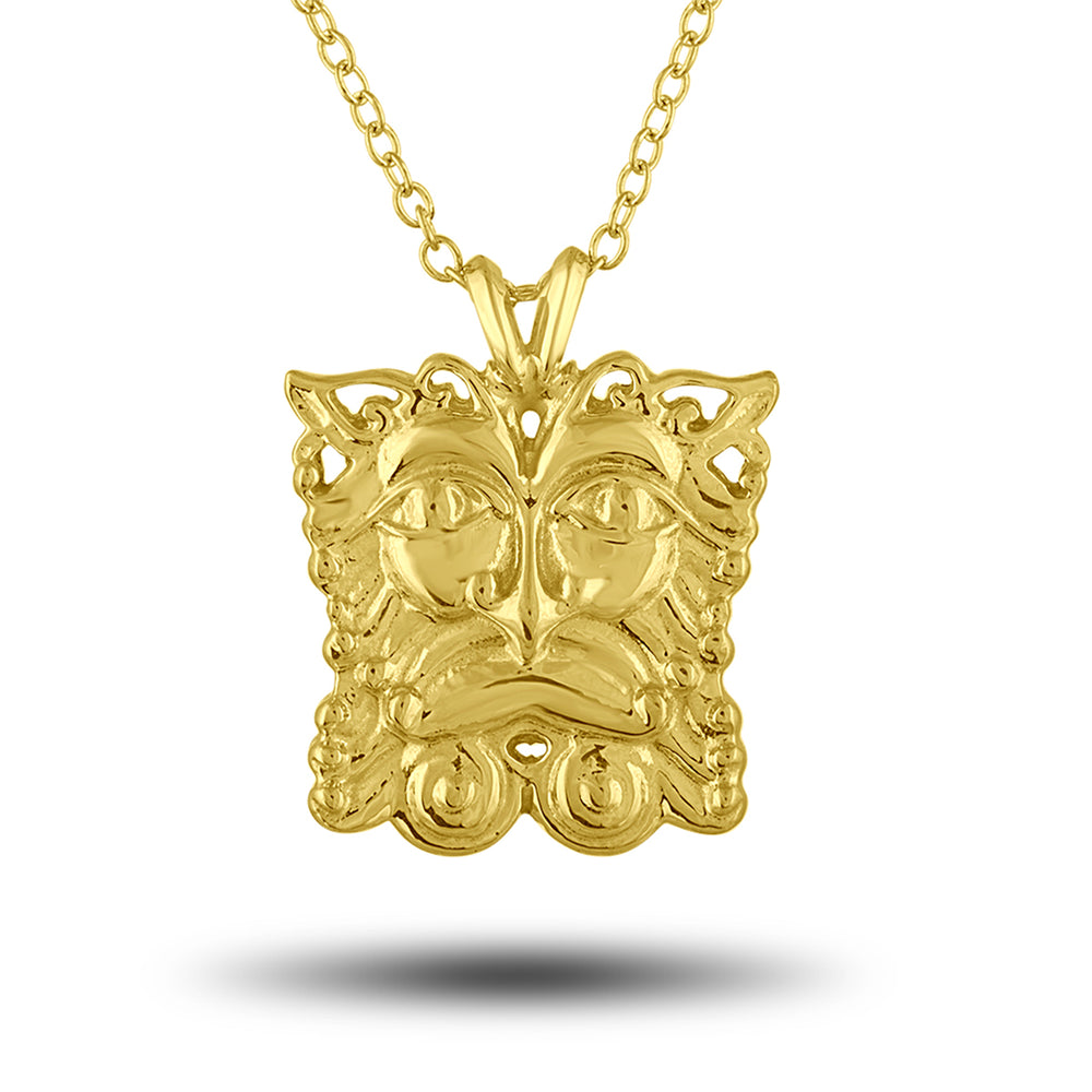 Golden Mask Pendant