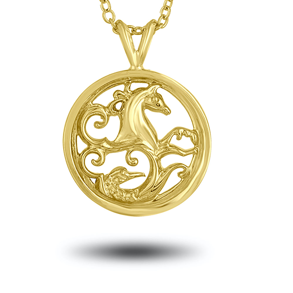 Load image into Gallery viewer, Gold  Warrior Pendant