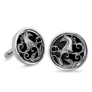 Load image into Gallery viewer, Sterling Silver Warrior Cufflinks