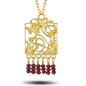 Ruby Lion Pendant